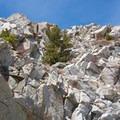 Crystal Crag's west face- Crystal Crag