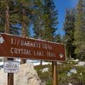 Trailhead sign.- Crystal Crag