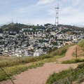 The park boasts fantastic views of Twin Peaks and downtown San Francisco.- Corona Heights Park