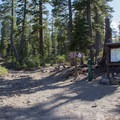 The Brewer Creek Trailhead.- Mount Shasta: Hotlum-Wintun Ridge