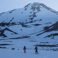 Skinning to camp.- Mount Shasta: Hotlum-Wintun Ridge