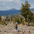 Tired legs and happy souls heading back to the Brewer Creek Trailhead.- Mount Shasta: Hotlum-Wintun Ridge