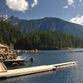 Ross Lake Resort and Jack Mountain (9,066').- Ross Lake via Diablo Lake