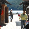Ross Lake Resort.- Ross Lake via Diablo Lake