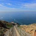 Over 300 stairs lead down to the lighthouse.- Point Reyes Lighthouse