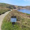 The trail to Point Reyes' Elephant Seal Overlook skirts above Drake's Bay.- Elephant Seal Overlook