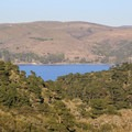 Tomales Bay State Park includes the forest in the foreground and coastal land on both sides of Tomales Bay.- Tomales Bay State Park