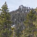 Rubicon Peak (9,120') is distinguished by its distinctive summit block.- Rubicon Peak