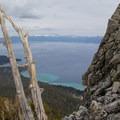 Shot of Lake Tahoe from the summit block.- Rubicon Peak