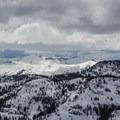 The view west toward Desolation Wilderness. - Rubicon Peak