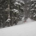 Storm riding on Rubicon Peak.- Rubicon Peak
