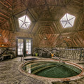 The meditative interior of the Temple Dome and hot pool. Photo credit: Jivan Child.- Sierra Hot Springs