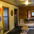 Changing rooms and shower building.- Sierra Hot Springs