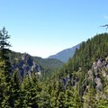 View of Salt Creek Canyon on the way to Diamond Creek Falls.- Diamond Creek Falls