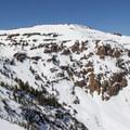 Crater Lake bowl.- Red Lake Peak: Crater Lake Descent