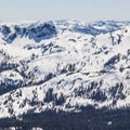 Looking south toward the Central Sierra and Ebbets Pass.- Red Lake Peak: Crater Lake Descent