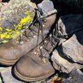 A summit memorial.- Red Lake Peak: Crater Lake Descent
