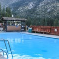 The warm pool in Grover Hot Springs State Park.- Grover Hot Springs State Park
