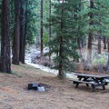 One of Grover Hot Springs State Park's picnic areas adjacent to Hot Springs Creek.- Grover Hot Springs State Park