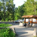 Sandy River Delta, Thousand Acre Park information kiosk.- Sandy River Delta, Thousand Acres Park