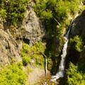 Sheep Canyon waterfall viewpoint.- Sheep Canyon