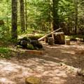 A typical backcountry campsite.- Sheep Canyon