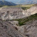 An eroded gully along the trail.- Sheep Canyon