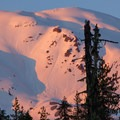 Alpine glow on Mount St. Helens (8,365').- Sheep Canyon