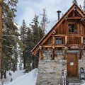 The hut doubles as a National Park Ranger Station during the summer months.- Pear Lake Ski Hut