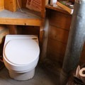 The hut's composting toilet.- Pear Lake Ski Hut