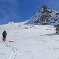 """The """"Matterhorn"""" with Winter Alta's summit peeking above the ridgeline.- Winter Alta Backcountry Ski"""
