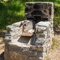 Traditional Diablo campfire grills are provided at each campsite.- Live Oak Campground