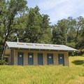 The restroom building in Live Oak Campground.- Live Oak Campground