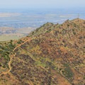 North Peak (3,557') with the Sacramento River Delta in the distance.- Mount Diablo State Park