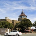 Mount Diablo's summit building was constructed with a rotunda summit tower and an aviation beacon.- Mount Diablo Summit