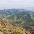 The view south.- Mount Diablo Summit