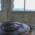 A memorial compass rose in the summit tower. - Mount Diablo Summit
