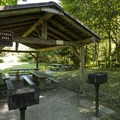 Reservable picnic shelter in Dash Point State Park.- Dash Point State Park