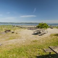 Beachside day use picnic area in Dash Point State Park.- Dash Point State Park
