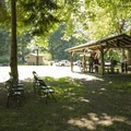 Upper day use picnic area in Dash Point State Park.- Dash Point State Park