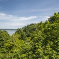 Looking out over Puget Sound's East Passage from Dash Point State Park.- Dash Point State Park