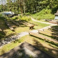 Amphitheater in Dash Point State Park Campground.- Dash Point State Park Campground