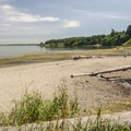 Dumas Bay Sanctuary beach.- Dumas Bay Wildlife Sanctuary