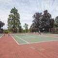 Point Defiance Park tennis courts.- Point Defiance Park