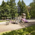 The main picnic and playground area in Point Defiance Park.- Point Defiance Park