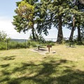 Picnic area at Dalco Passage Viewpoint in Point Defiance Park.- Point Defiance Park