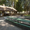Fort Nisqually Picnic Shelter and picnic area in Point Defiance Park.- Point Defiance Park