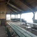 Owen Beach Picnic Shelter.- Owen Beach + Promenade