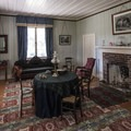 The living area in Factor's House, Fort Nisqually.- Fort Nisqually Living History Museum