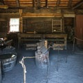Store House #2, used as a blacksmith shop, in Fort Nisqually.- Fort Nisqually Living History Museum